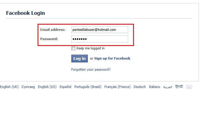 how to use backtrack 5 to hack facebook