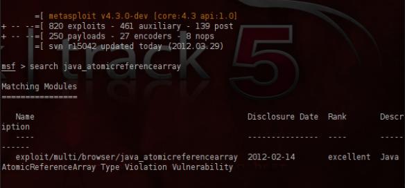 Java Exploit Attack (CVE-2012-0507) | Penetration Testing Lab