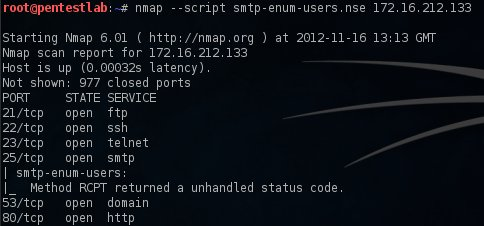 SMTP User Enumeration | Penetration Testing Lab
