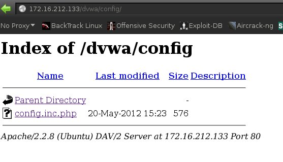 Directory Indexing - DVWA