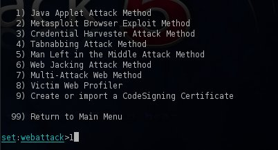 Java Applet Attack Method