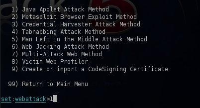 Java Applet Attack Method