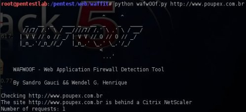 Detection of WAF with wafwoof