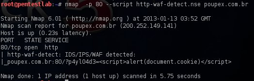 WAF detection via Nmap