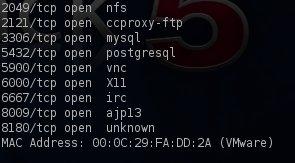 NFS port is open