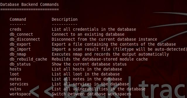 Metasploit - Database Commands