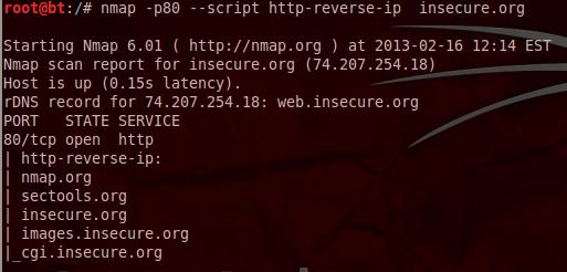 Nmap - Reverse IP