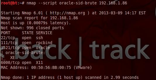Brute Forcing Oracle SID's - Nmap