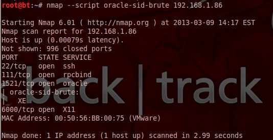 Brute Forcing Oracle SID's - Nmap