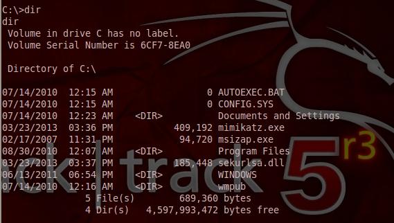 Mimikatz on C: Directory