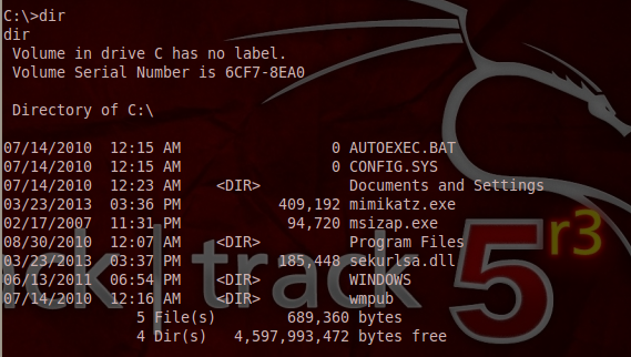 Mimikatz on C: Directory