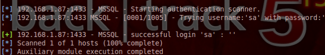 Brute Forcing MS SQL Passwords with Metasploit