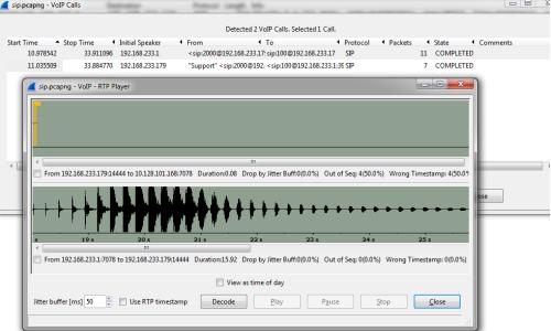 Decoding RTP Traffic-Wireshark