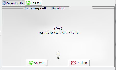 Spoofed Call with the ID of CEO
