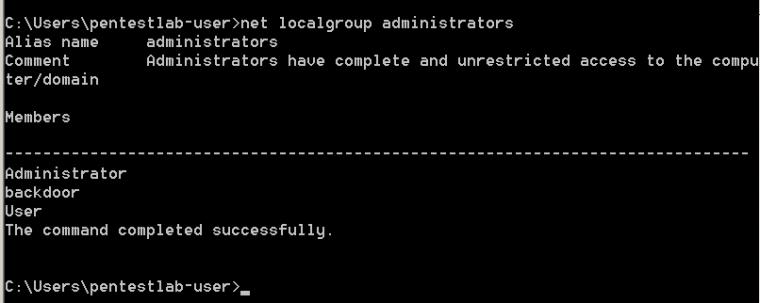 net-localgroup-administrators