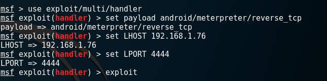 Metasploit Multi Handler - Android Payload