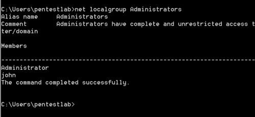 PowerSploit - Backdoor Admnistrator Account