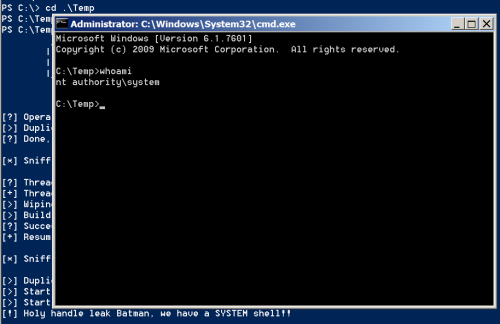 PowerShell - MS16-032 Elevated Command Prompt