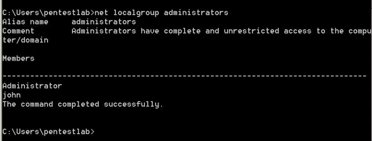 Verification of Local Administrators