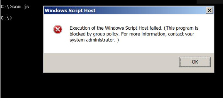 AppLocker - Restriction of Script Execution