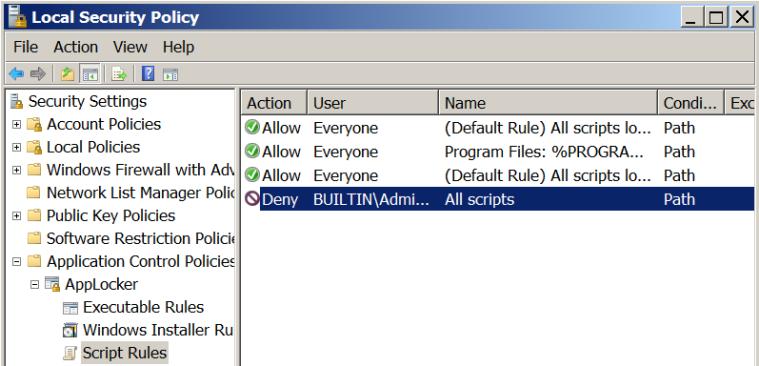 AppLocker - Script Rules