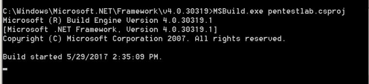 Executing ShellCode via MSBuild