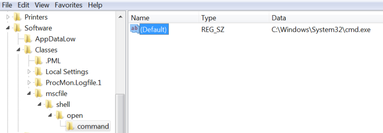 Elevated CMD - Event Viewer Registry