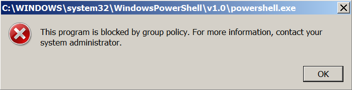 PowerShell Blocked by AppLocker