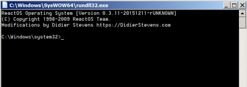 Rundll32 - Command Prompt