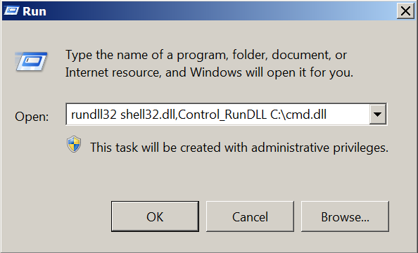 Rundll32 - DLL Loading Control Run