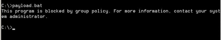 AppLocker - Restriction on BAT Files