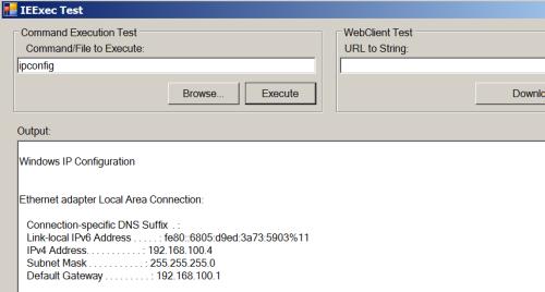IEExec - Dot NET 64bit Application