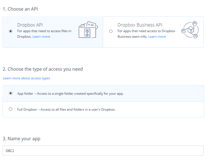 DropBox Application Generation