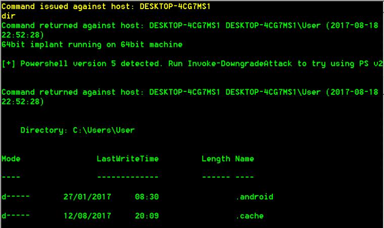 PoshC2 - Dir Command