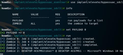 Koadic - Bypass UAC SDCLT
